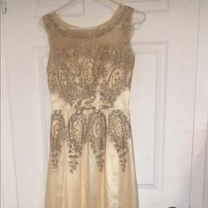 Gold Prom Dress/Evening gown